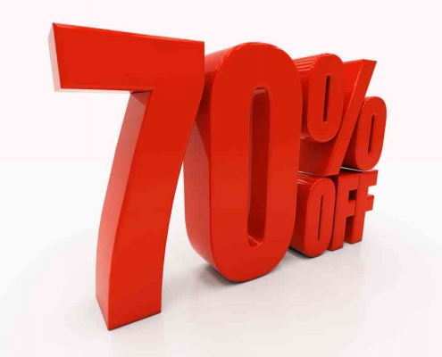 70% off mortgage interests