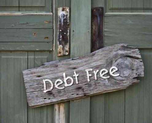 mortgage debt free sign