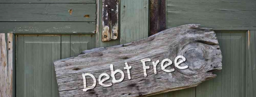 mortgage debt free sign