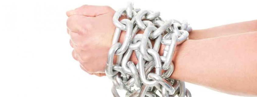 hands chained: being locked in or tied up in a home loan