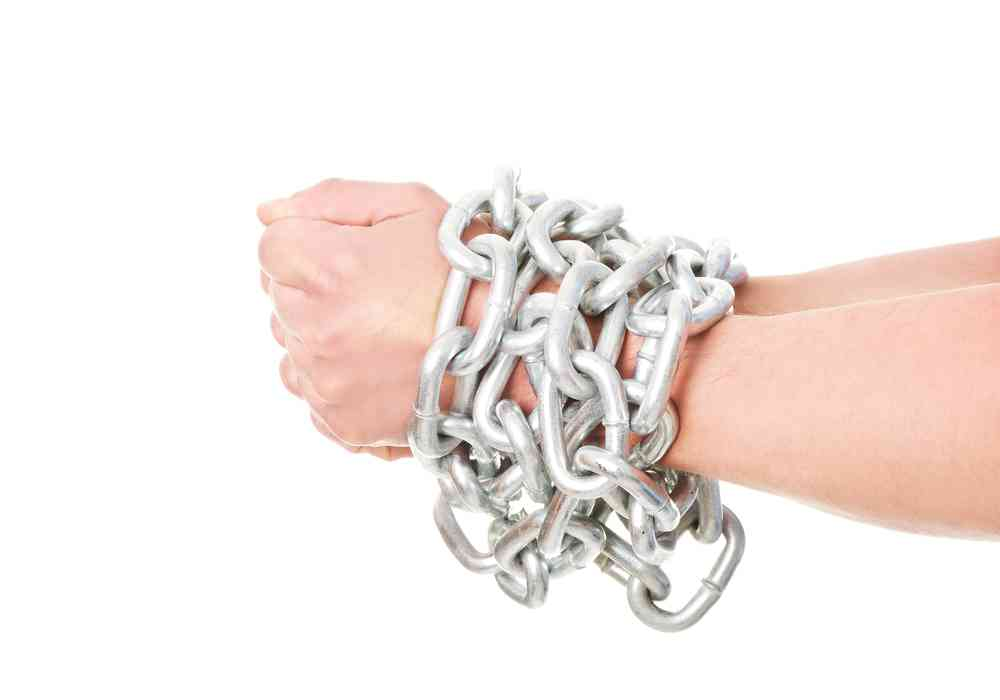 (F) hands chained: being locked in or tied up in a home loan