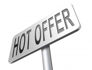 sign showing hot offer