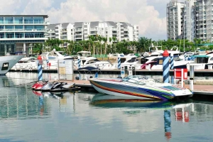 yachts berthing at Sentosa Cove