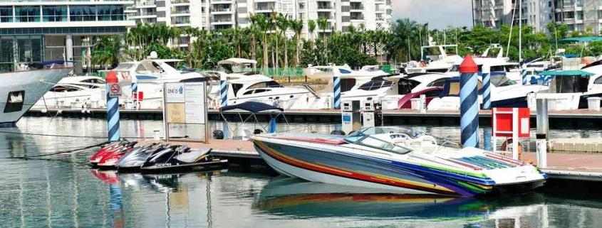 yachts berthing at Sentosa Cove