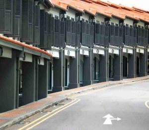 row of shophouses for commercial property loan