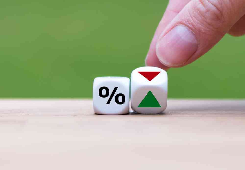 Dice showing home loan interest rate can go either way up or down