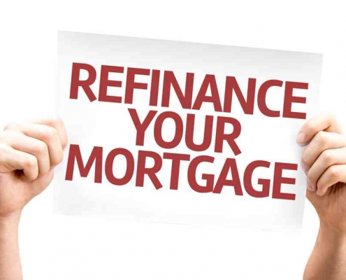 refinance home loan sign