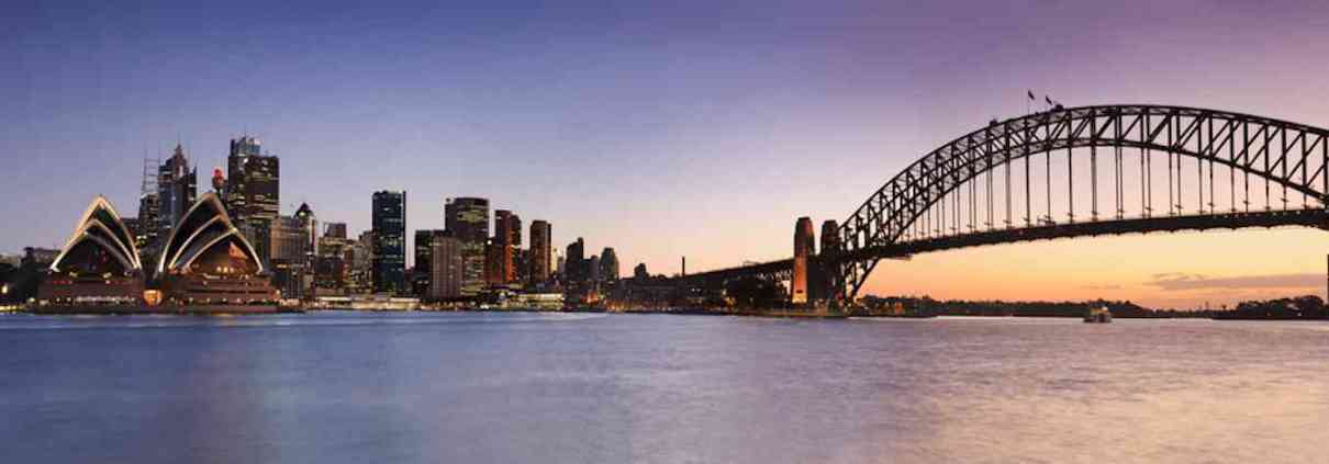 Australia property loan - showing Sydney harbour bridge